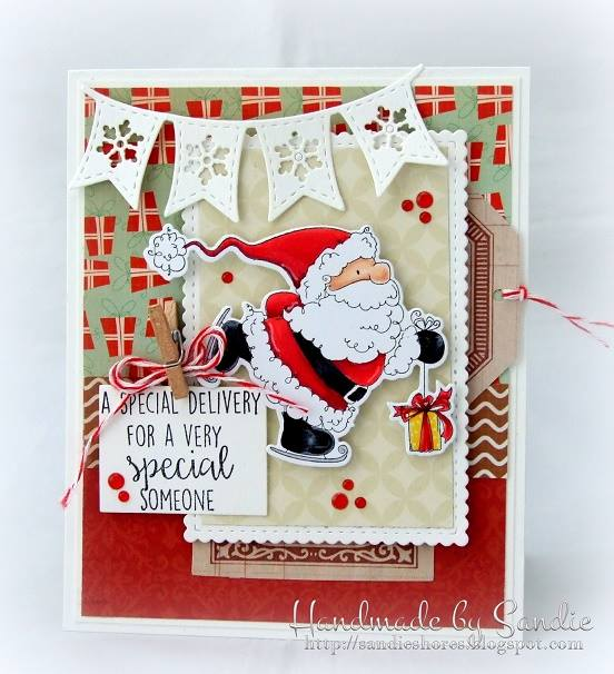Bellarific Friday OCT. 14, 2016- Santa's SPEEDY DELIVERY rubber stamp