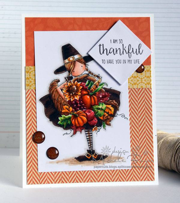 Bellarific Friday OCT. 14, 2016- TINY TOWNIE CASEY has a CORNUCOPIA rubber stamp