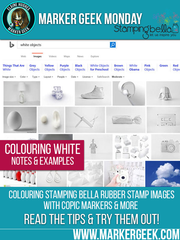 Marker Geek Monday at Stamping Bella: Tips for Colouring White. Click through for the blog post!