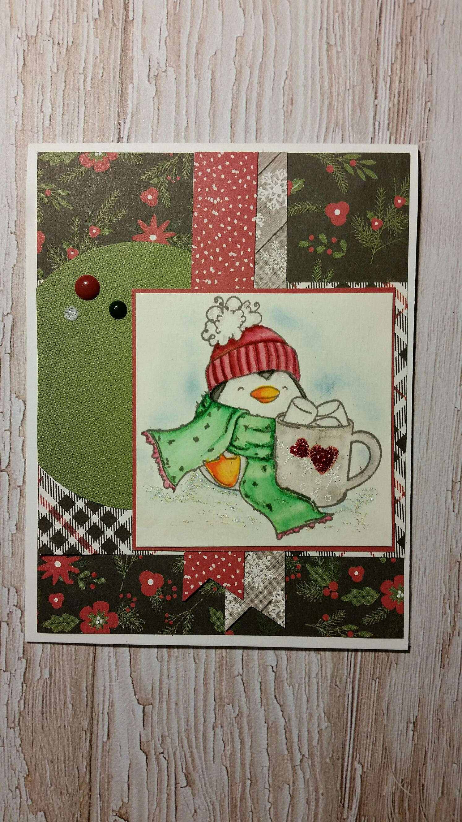 Sistahood card for Stamping Bella using THE PENGUIN and the MARSHMALLOW rubber stamp