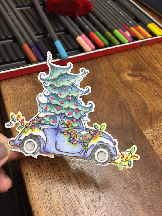 Wonderful Wednesdays with Kathy Racoosin- CHRISTMAS BUG STAMP and DIE set