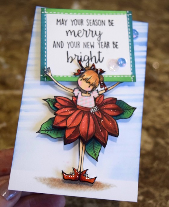 wonderful wednesdays with Kathy Rac- PAMELA the POINSETTIA rubber stamp
