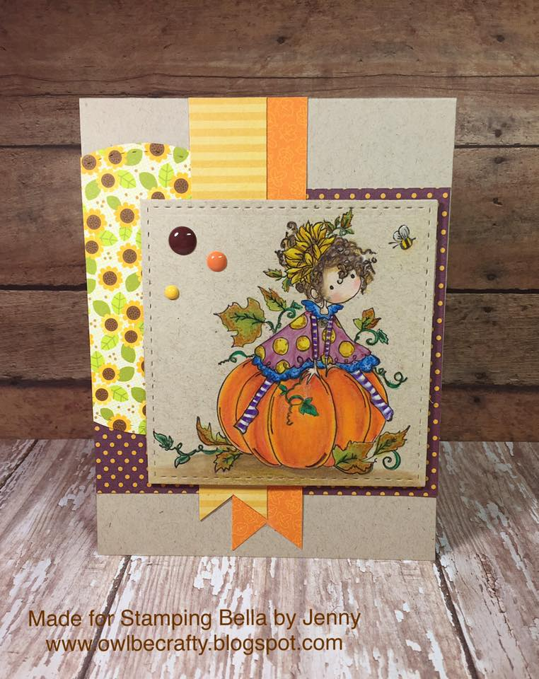 Bellarific Friday NOVEMBER 25-RUBBER STAMP USED: TINY TOWNIE PATRICIA LOVES PUMPKINS
