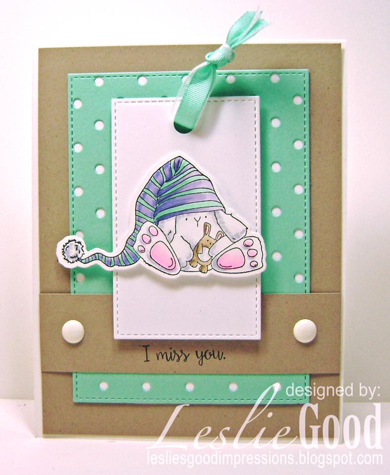 Bellarific Friday - FEATURING STAMP OF THE MONTH SLEEPY BUNNY WOBBLE