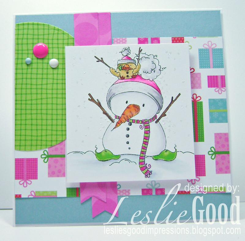 Bellarific Friday NOVEMBER 25-RUBBER STAMP USED:  SNOWMAN WITH A CHICK ON TOP
