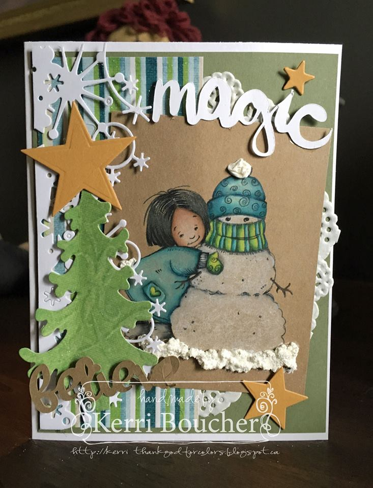 Bellarific Friday NOVEMBER 18th on Stamping Bella Blog-VALERIE WITH SNOWMAN RUBBER STAMP