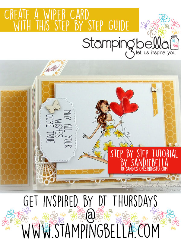 Stamping Bella DT Thursday Wiper Card. Click through for full step by step guide.