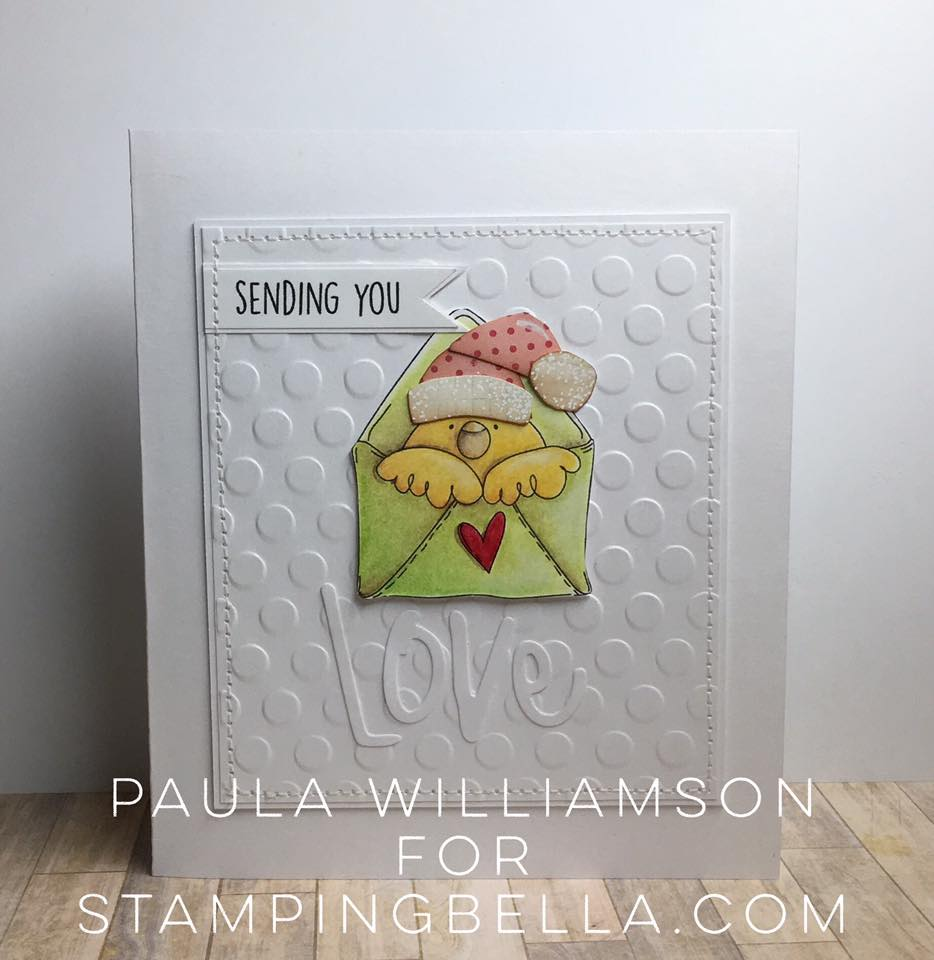 Bellarific Friday DEC 16, 2016- mail chick rubber stamp