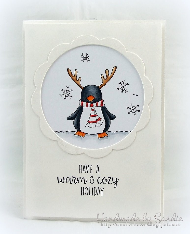 Bellarific Friday DEC 16, 2016- PENGUIDEER rubber stamp