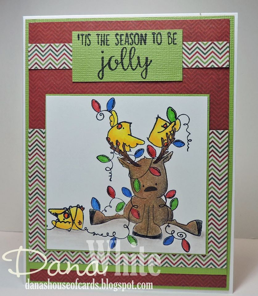 Bellarific Friday DECEMBER 9th 2016-RUDOLPH, THE CHRISTMAS LIGHTS and the CHICKS RUBBER STAMP