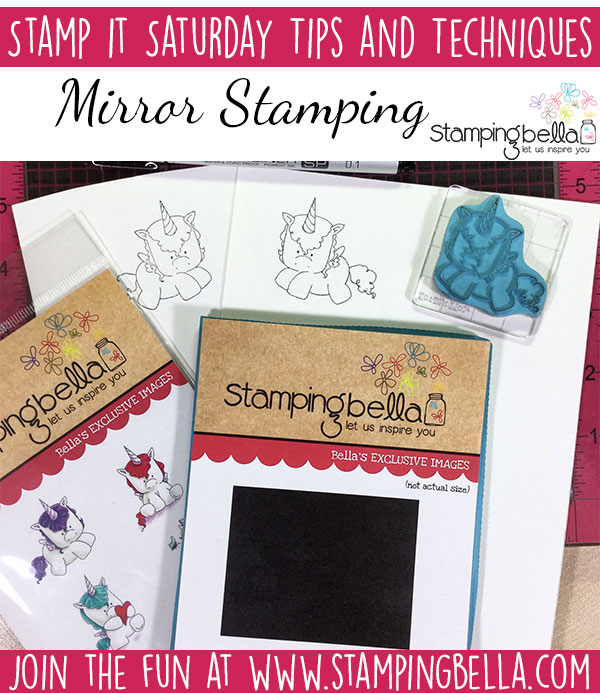 Stamping Bella Stamp It Saturday - Mirror Stamping & the Mirror Mirror/Cardstock Matcher Stamp. Click through for videos and tips!