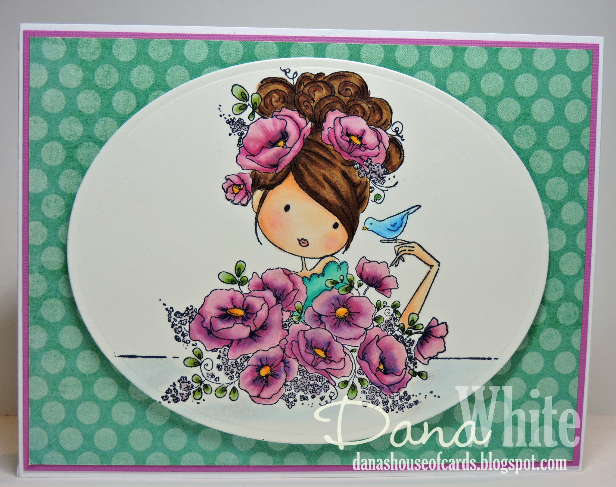 Bellarific Friday January 27th 2017-PHOTO INSPIRATION CHALLENGE- Uptown girl FIONA loves FLOWERS card by Dana White