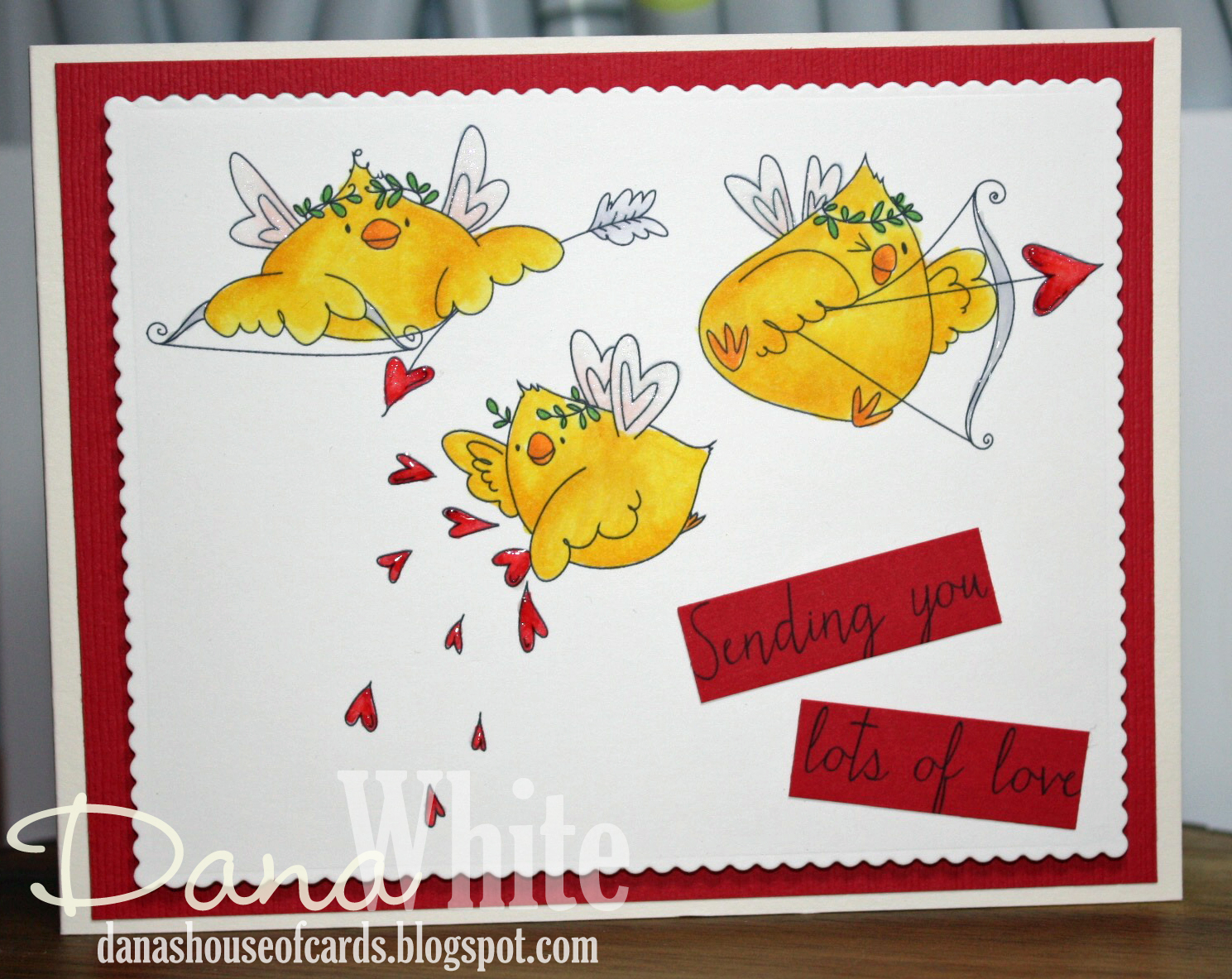 Stamping Bella JANUARY 2017 rubber stamp release- CUPID CHICKS card by DANA White