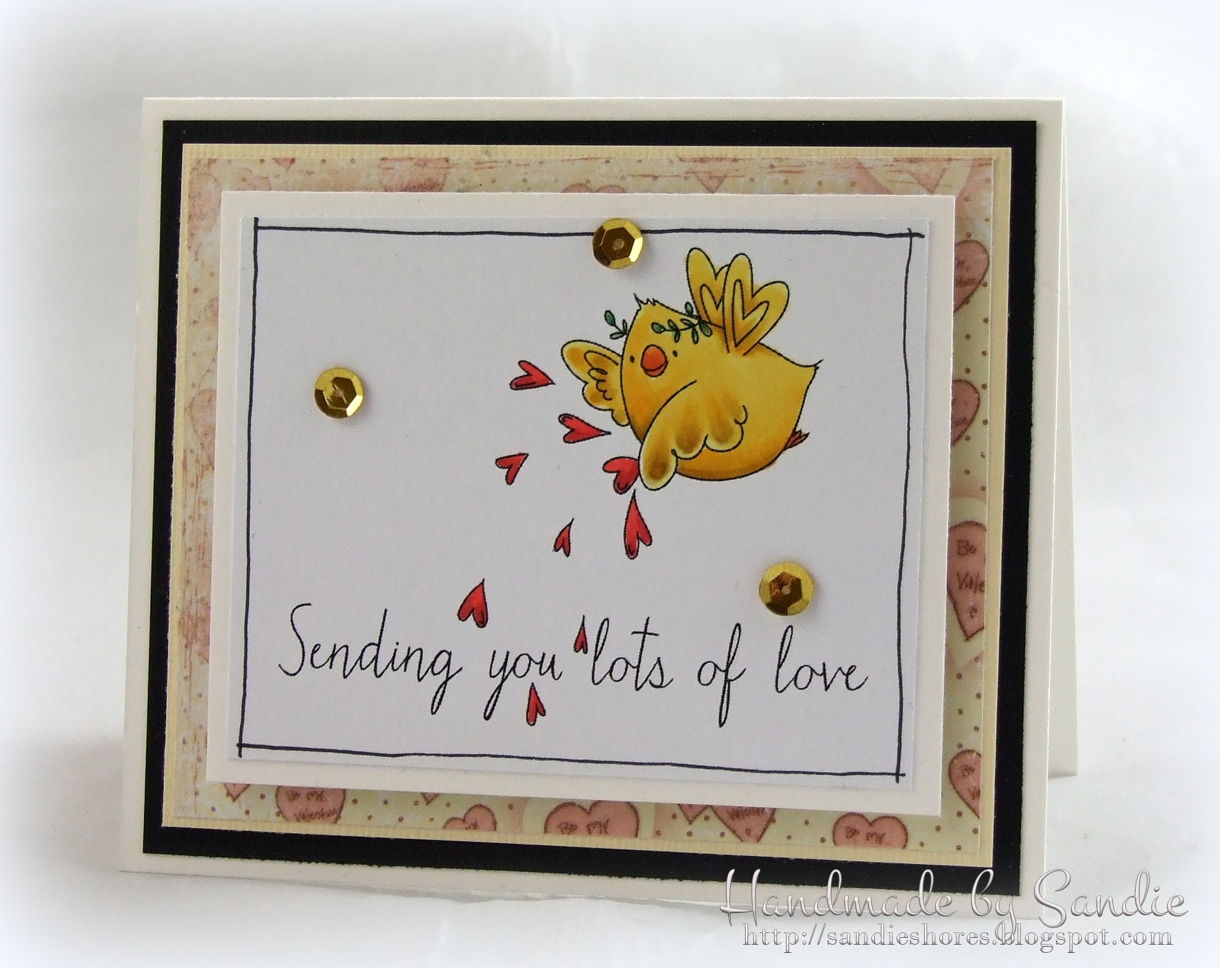 Stamping Bella JANUARY 2017 rubber stamp release- CUPID CHICKS card by Sandie Dunne