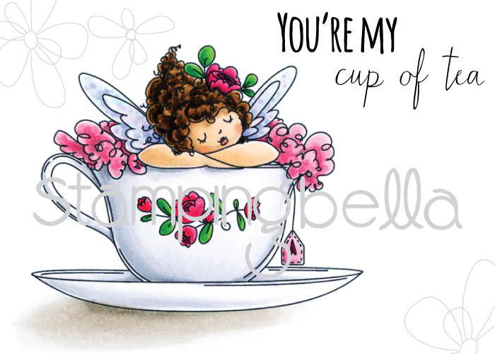 Stamping Bella JANUARY 2017 rubber stamp release-Edna's CUP OF TEA