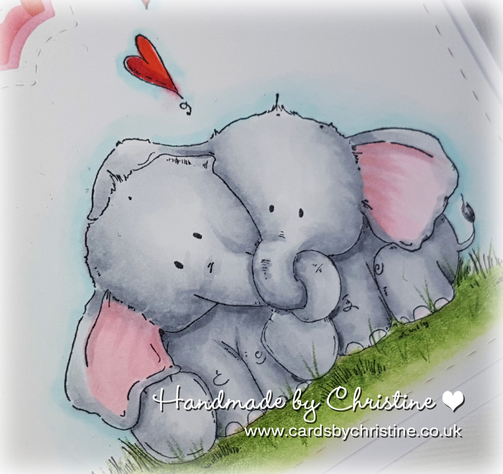 Wonderful Wednesdays With Stamping Bella- ELLIE LOVES PHANT card by Christine Levison