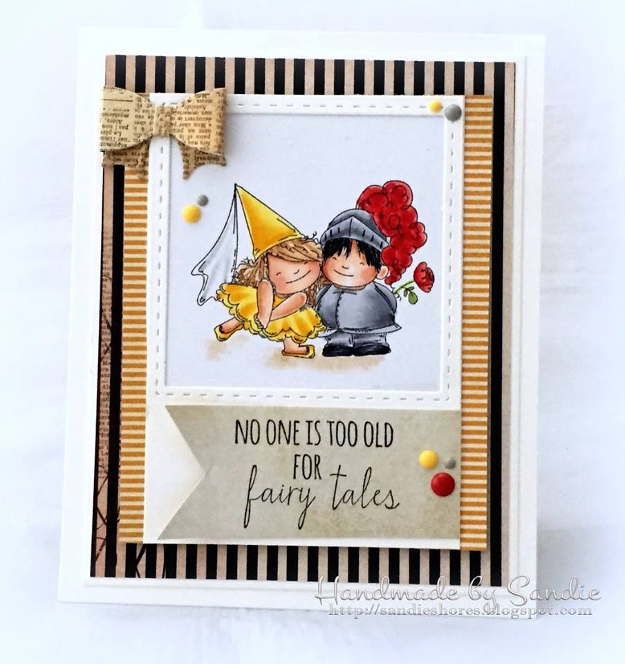 Bellarific Friday January 27th 2017-PHOTO INSPIRATION CHALLENGE- FAIRY TALE SQUIDGIES card by Sandie Dunne