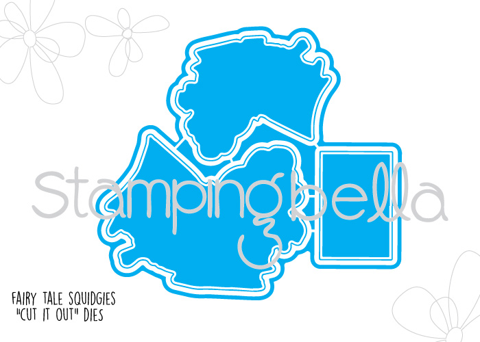 """Stamping Bella JANUARY 2017 rubber stamp release-FAIRY TALE SQUIDGIES """"cut it out die"""""""
