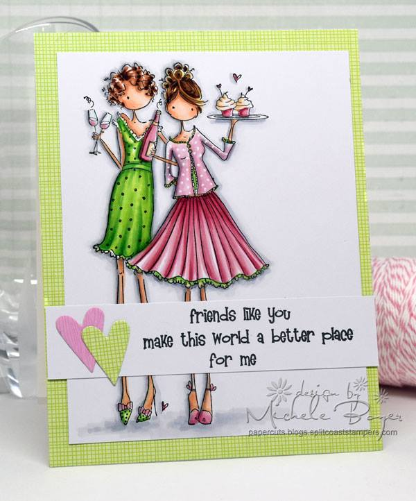 Bellarific Friday challenge Jan. 20 2017- friendship theme- Uptown girls FELICITY AND BLAIR CARD by Michele Boyer