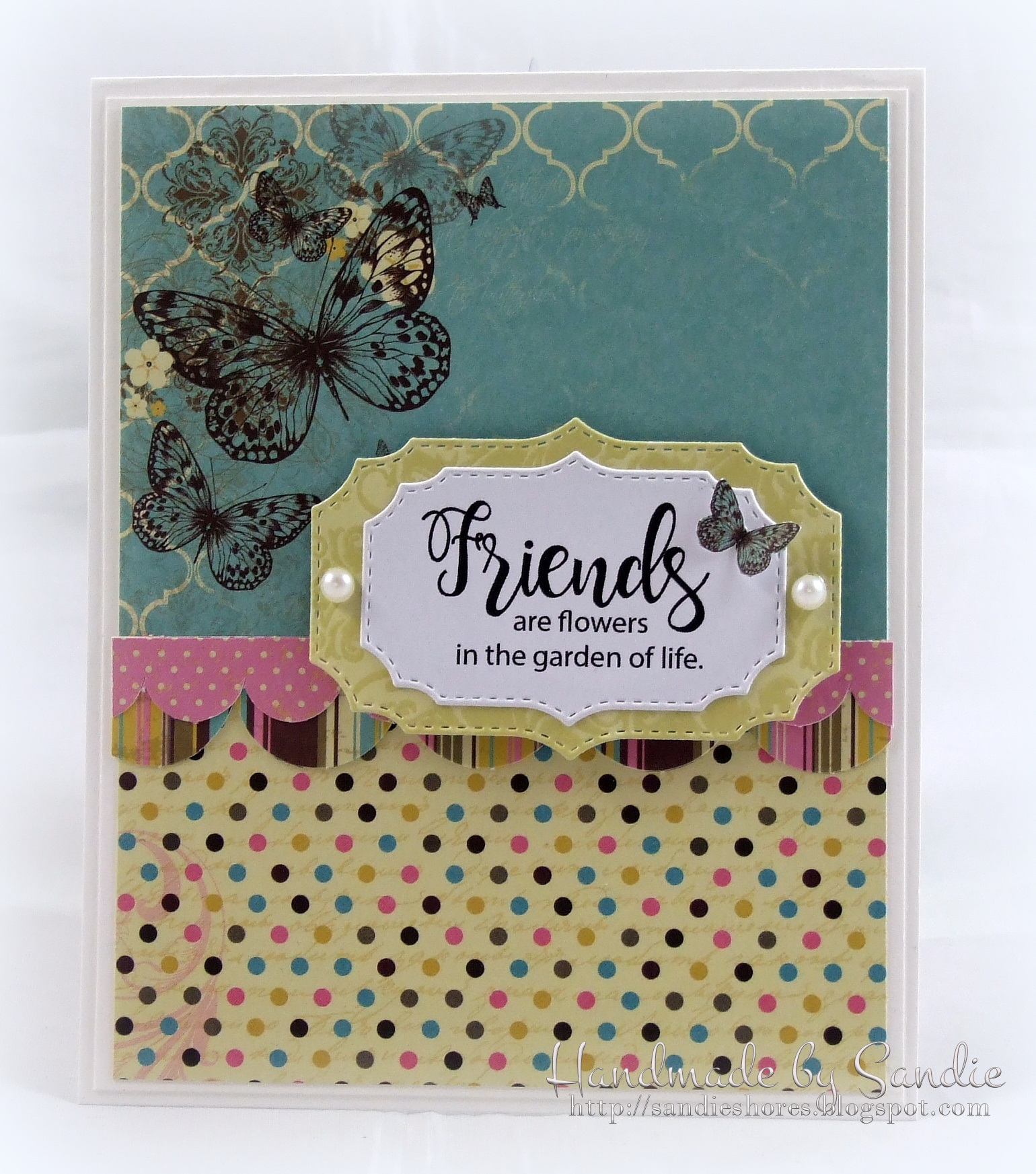 Stamping Bella JANUARY 2017 rubber stamp release- Tiny Townie Garden Girl FLOWER sentiments card by Sandie Dunne