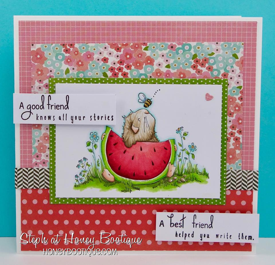 Bellarific Friday challenge Jan. 20 2017- friendship theme- GILBERT HAS A SNACK CARD by Stephanie Hill