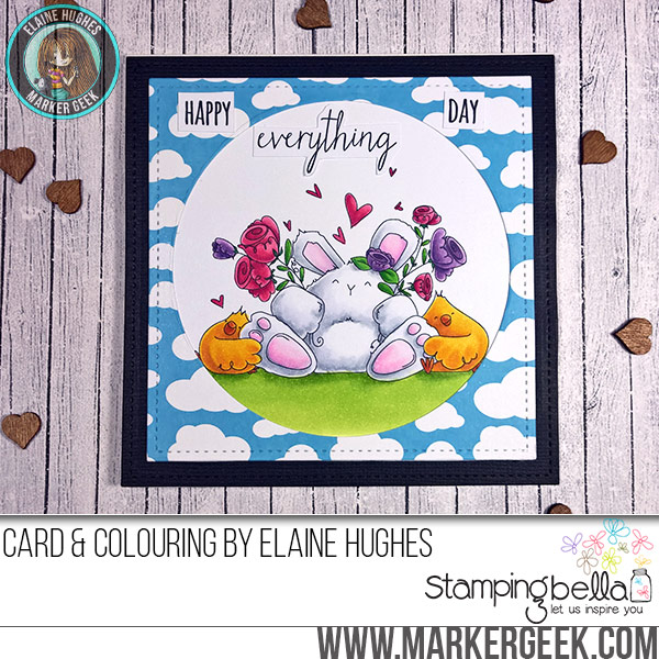Stamping Bella JANUARY 2017 rubber stamp release-Happy Everything BUNNY WOBBLE ELAINE
