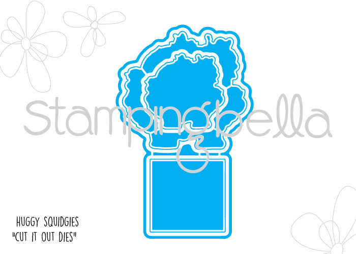 Stamping Bella JANUARY 2017 rubber stamp release- HUGGY SQUIDGIES CUT IT OUT DIES