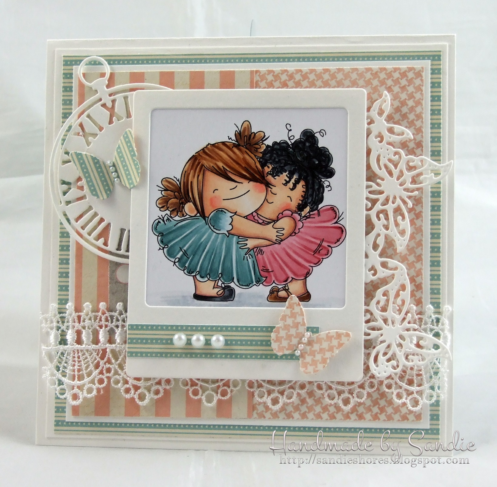 Stamping Bella JANUARY 2017 rubber stamp release- HUGGY SQUIDGIES card by Sandie Dunne