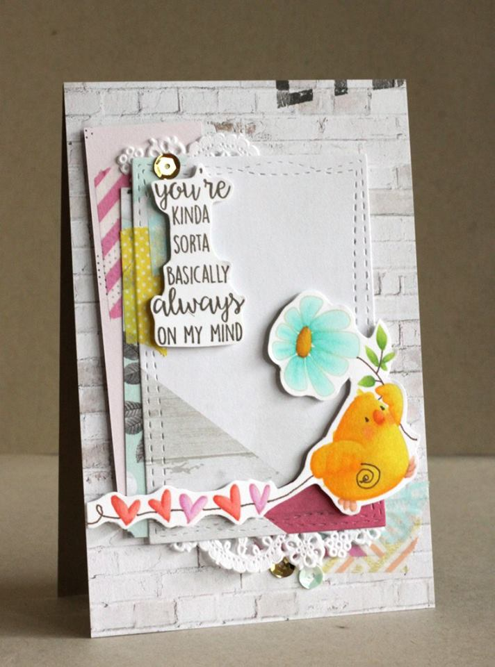 Bellarific Friday January 27th 2017-PHOTO INSPIRATION CHALLENGE-Marching chick card by ALICE WERTZ