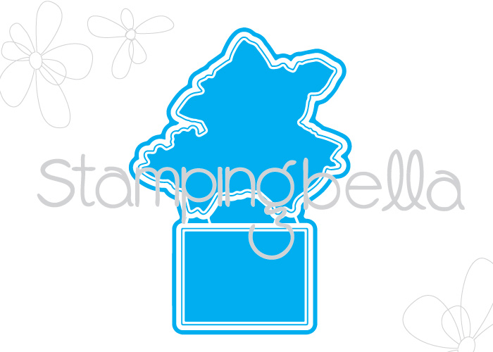 """Stamping Bella JANUARY 2017 rubber stamp release- Petunia and her MIRACLE """"CUT IT OUT"""" die"""