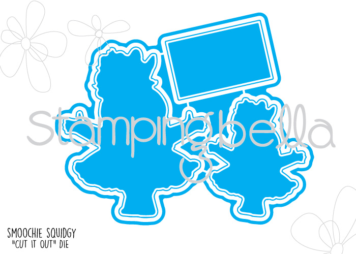 "Stamping Bella JANUARY 2017 rubber stamp release-SMOOCHIE squidgie ""CUT IT OUT"" die"