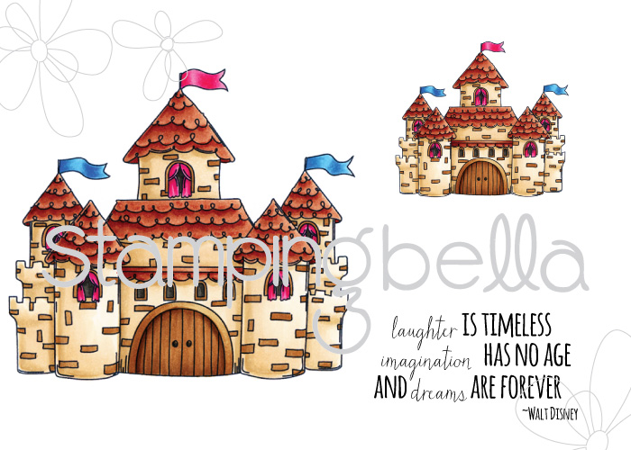 Stamping Bella JANUARY 2017 rubber stamp release-SQUIDGY castle