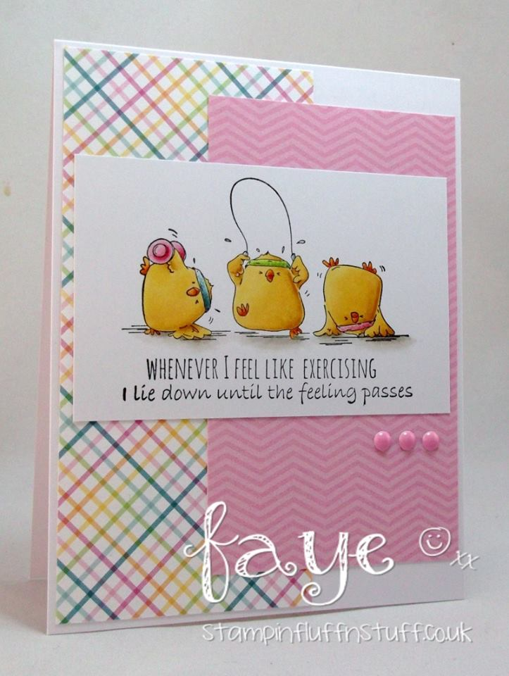Bellarific Friday challenge Jan. 13th 2017-MOJOBELLA CARD SKETCH-SWEATY CHICKS card by Faye Wynn Jones