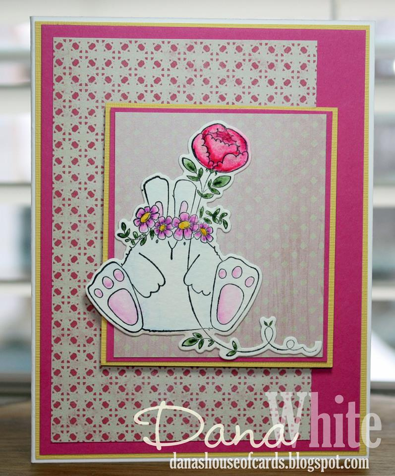 Bellarific Friday challenge Jan. 13th 2017-MOJOBELLA CARD SKETCH-the BUNNY WOBBLE and the PEONY card by Dana White