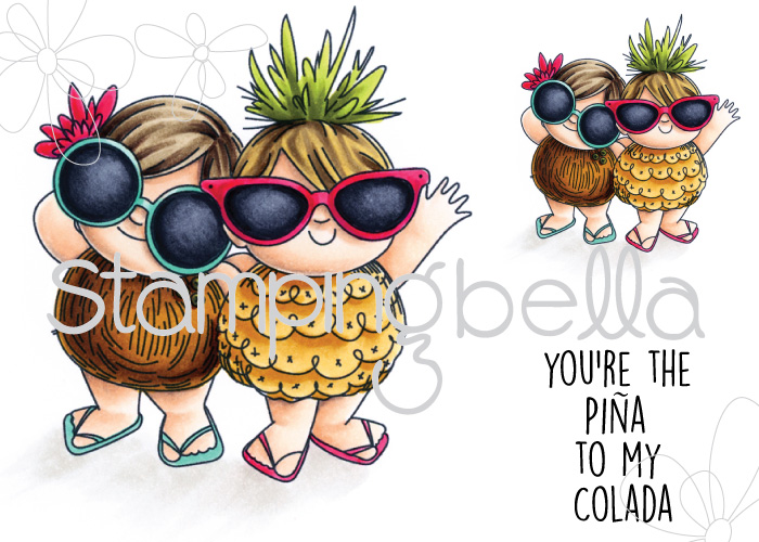 Stamping Bella JANUARY 2017 rubber stamp release- TROPICAL SQUIDGIES