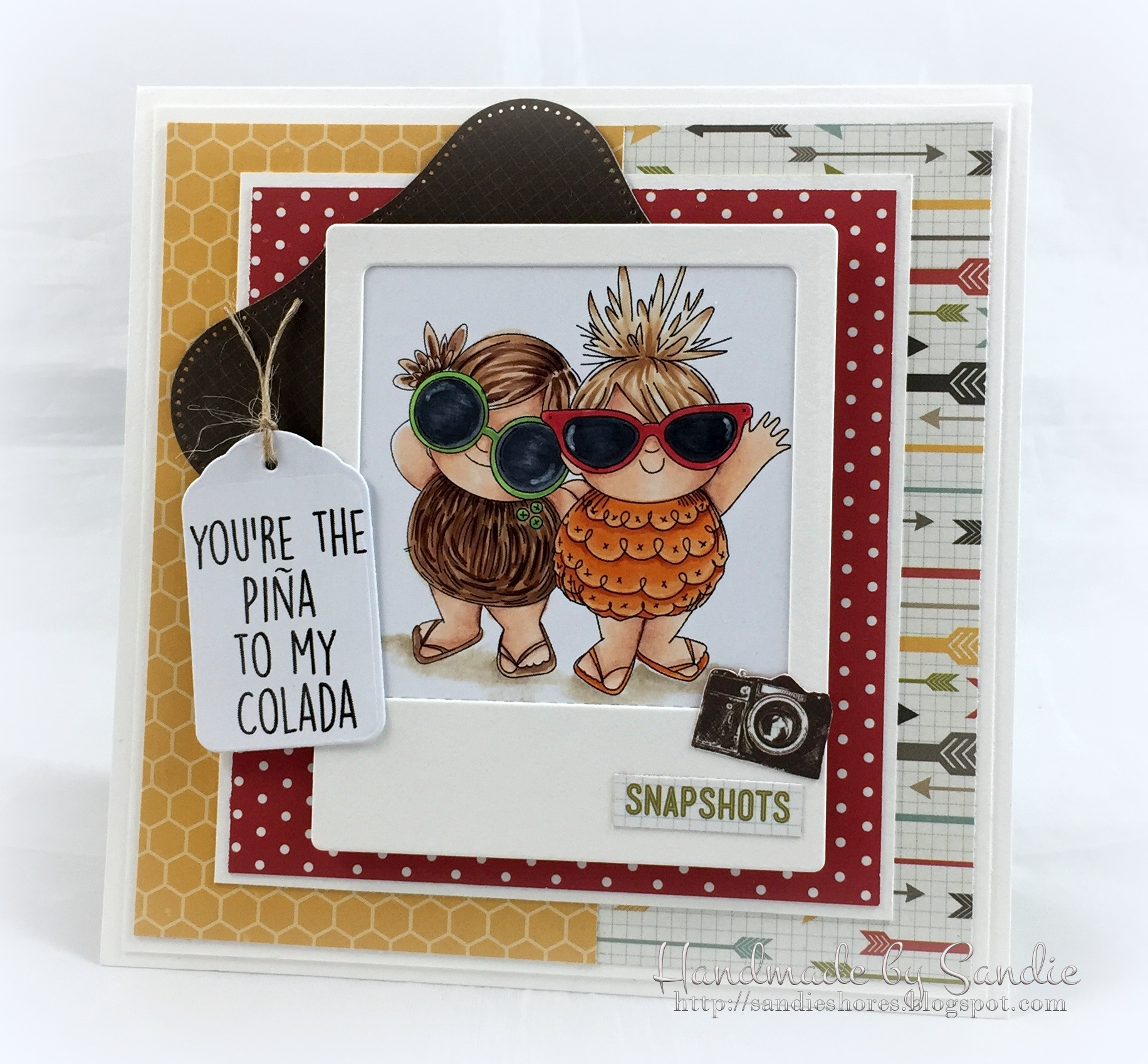 Stamping Bella JANUARY 2017 rubber stamp release-Tropical Squidgies card by ELaine Hughes