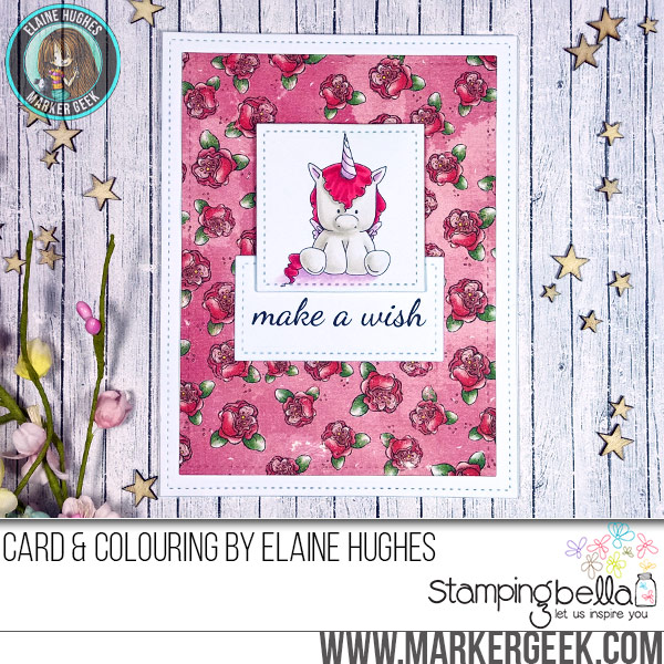Stamping Bella JANUARY 2017 rubber stamp release-UNICORN SET by Elaine Hughes