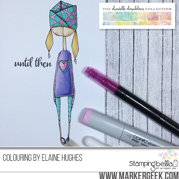 Danielle Donaldson Rubber Stamps by Stamping Bella-UNTILOLIVE sample by Elaine Hughes