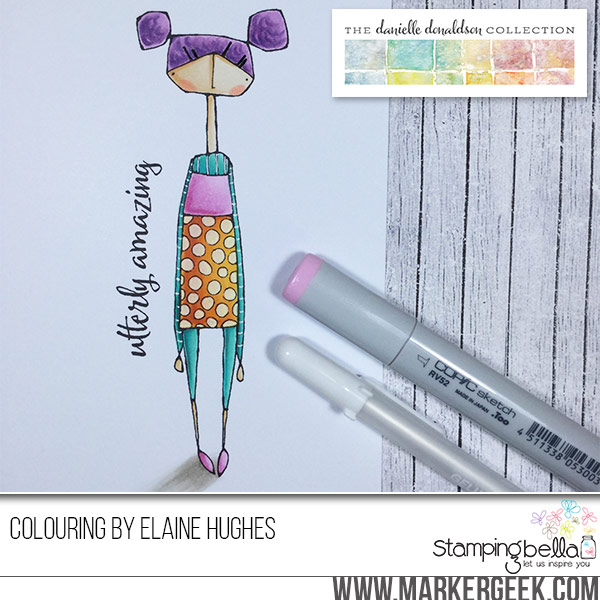 Danielle Donaldson Rubber Stamps by Stamping Bella-UTTERLYVIOLET
