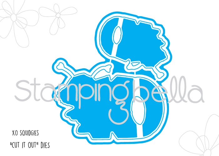 Stamping Bella JANUARY 2017 rubber stamp release- XO SQUIDGIES CUT IT OUT DIES