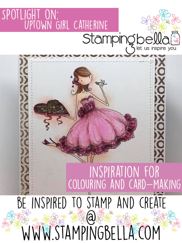 Stamping Bella Spotlight On Uptown Girl Catherine Nibbling Chocolate. Click through for inspiration!