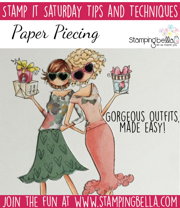 Stamping Bella Stamp It Saturday: Paper Piecing with Sandiebella.