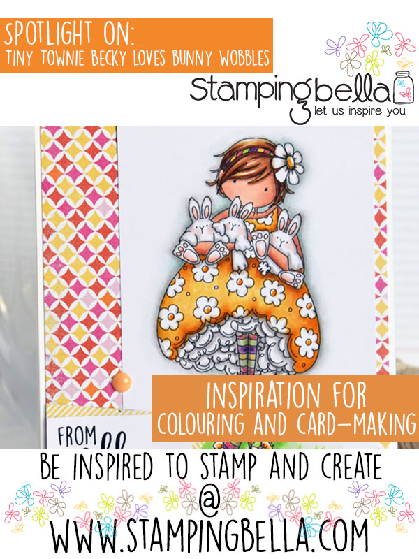 Stamping Bella Spotlight On Tiny Townie Becky Loves Bunny Wobbles.