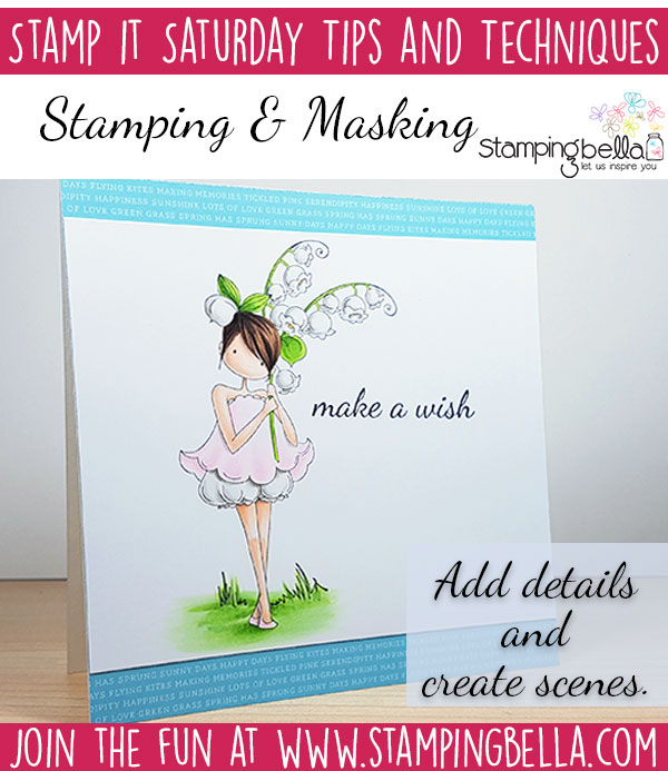 Stamping Bella Stamp It Saturday - Stamping & Masking with Elaineabella.