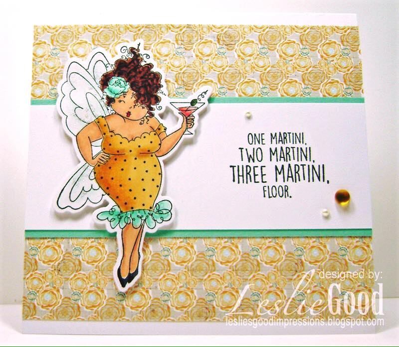 Bellarific Friday with Stamping Bella- Rubber stamp used Edna NEEDS a MARTINI card made by LESLIE GOOD