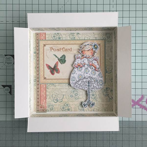 Stamping Bella DT Thursday Easter Shadow Box Step by Step with Sandiebella