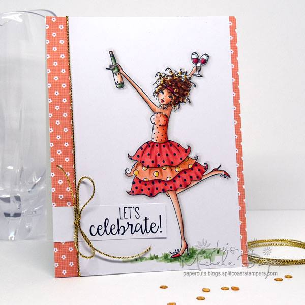 Bellarific Friday with Stamping Bella- Rubber stamp used WINOBELLA card made by MICHELE BOYER