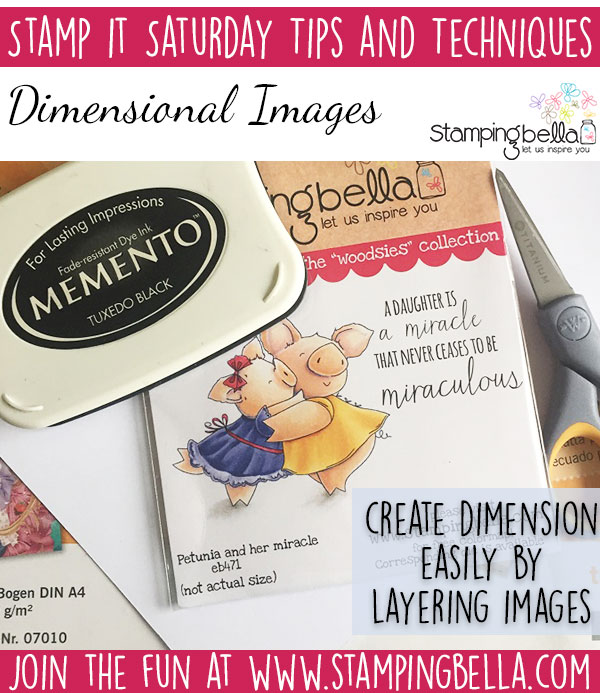 Stamp It Saturday - Create Dimensional Images with Sandiebella!