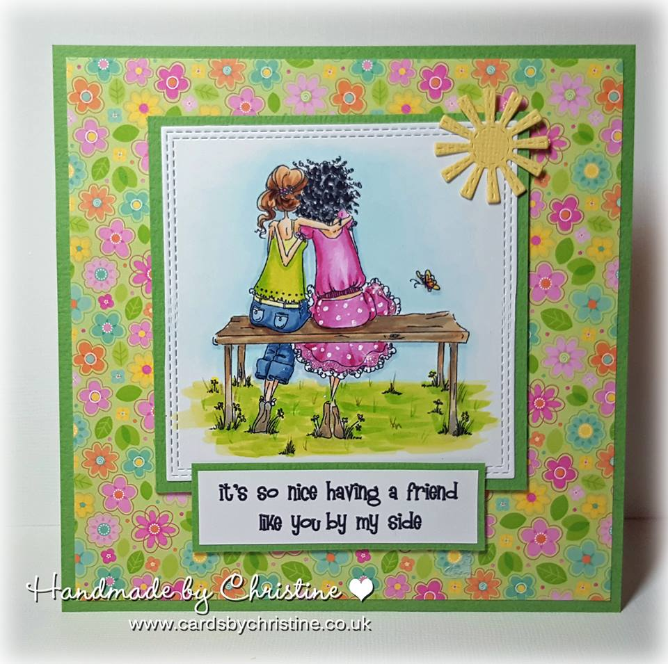 Bellarific Friday STAMP OF THE MONTH UPTOWN GIRLS BELINDA and BERNADETTE-card made by Christine Levison