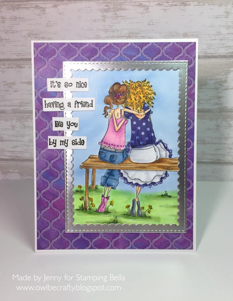 Bellarific Friday STAMP OF THE MONTH UPTOWN GIRLS BELINDA and BERNADETTE-card made by JENNY BORDEAUX